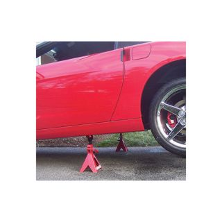 Torin Double Locking Ratchet Action Jack Stands — 3 Ton Capacity, Model# T43002A  Jack Stands