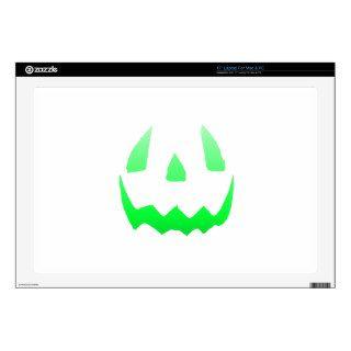 "Green Glow Happy Halloween 17"" Laptop Skins"