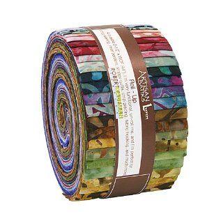 """Lunn Studios REGAL ARTISAN BATIKS Roll Up 2.5"""" Precut Cotton Fabric Quilting Strips Jelly Roll Assortment Robert Kaufman RU 266 40"""