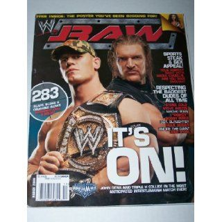 WWE Raw Magazine It's On John Cena & Triple H March 2006, Maria Kanellis, Stone Cole Steve Austin, Macho Man, Rowdy Roddy Piper, Sgt. Slaughter, Hulk Hogan, Andre the Giant WWE Books