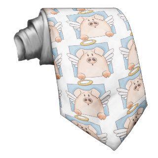 Cute Cartoon Angel Pig Tie