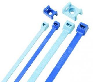 "Panduit TM2S8 C86 Cable Tie Mount, Nylon 6.6, #8 (M4) Screw Mounting Method, 0.325"" Counter Bore Diameter, 0.275"" Height, 0.422"" Width, 0.63"" Length, Light Blue (Pack of 100) Industrial & Scientific"