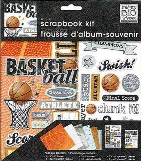 me & my BIG ideas 8 Inch by 8 Inch Scrapbook Page Kit, Basketball: