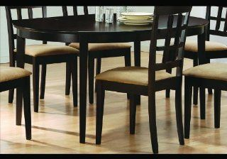Shop Cappuccino Finish Wood Dining Table Oval Kitchen Tables at the  Furniture Store