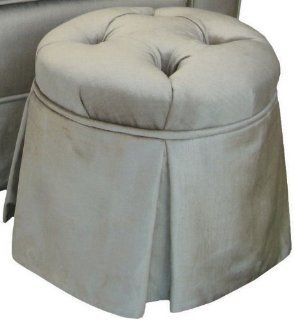 Shop Angel Song Aspen   Silver Round Tufted Child Ottoman at the  Furniture Store