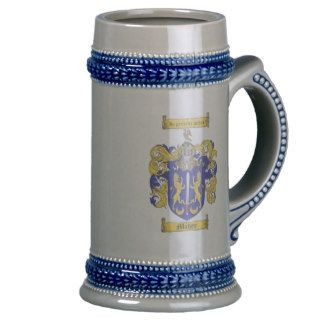 Maher Coat of Arms Stein / Maher Crest Stein Mugs