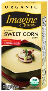 Imagine Organic Creamy Sweet Corn Soup, 32 Ounce Cartons (Pack of 6) : Vegetable Soups : Grocery & Gourmet Food