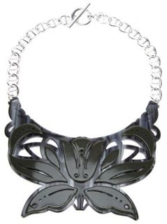 Carven 'petit Collier Plexi' Necklace   Mooi