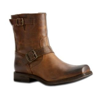 New FRYE Smith Engineer Leather Boot Tan Mens Shoes