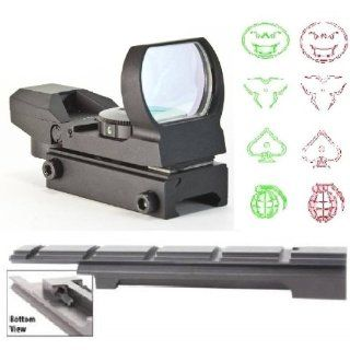 Ultimate Arms Gear Enfield Rifle Scope Sight Model .303 NO.1 MK3 Weaver Picatinny Rail Mount + 4 Reticle Red Green Modern Destroyer Edition Open Reflex Hunting Scope Sight   Combo Combination Package Kit Set  Sports & Outdoors
