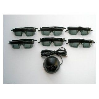 3d Glasses (6) and Emitter for for Mitsubishi or Samsung DLP TV's, VIP Gamer and Lumagen CRT 3D, etc, Optoma 3D XL 3D box,Viewsonic VP3D1 3d box, Moome EXTV3 Box, Nvidia Quadro Cards, X3D, I/O, ED etc black 3D Gaming dongle etc Electronics