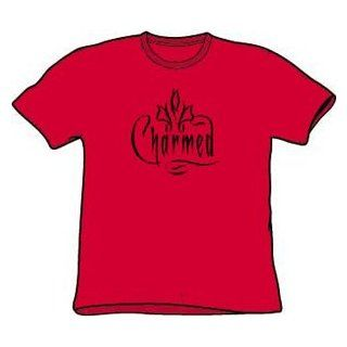 Charmed TV Show CHARMED LOGO Adult Red Unisex T shirt Clothing
