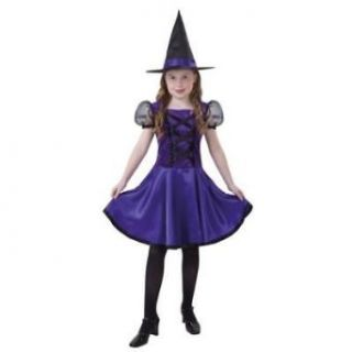 Girls Violet Witch Costume Clothing