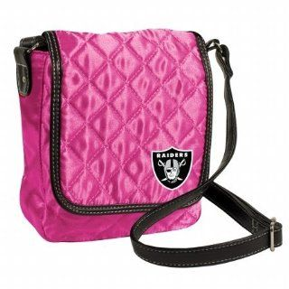NFL Oakland Raiders Pink Quilted Purse : Sports Fan Totebags : Sports & Outdoors