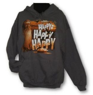Duck Dynasty Si Lethal Weapon OR Phil Happy Hoodie Hooded Sweatshirt Adult M 2XL (X Large, Grey Happy Happy Happy) at  Men�s Clothing store
