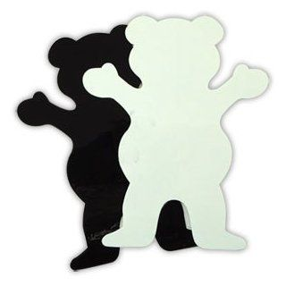 GRIZZLY GRIP Skateboard BIG BEAR WHITE STICKER 4in Decal: Sports & Outdoors