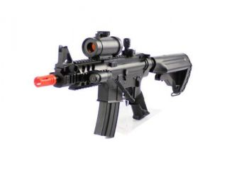 2012 CQB 320 FPS Airsoft Rifle M16/M4 Style Red Dot Version 1:1 Double Eagle CQB 614 AEG Full Auto Rifle Electric Airsoft Gun Airsoft Rifle Gun Assault Rifle Gun