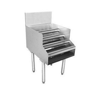 "Glastender LDA 24S Liquor Display Unit, Free Standing, 24""W X 24""D, Stainless Steel Construction,   Barware"