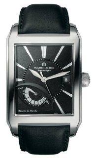 Maurice Lacroix Pontos Rectangulaire Reserve de Marche Automatic SS Mens Watch pt6167 ss001 330 at  Men's Watch store.