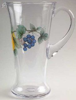 Mikasa Garden Harvest Glassware Pitcher 48 Ounces, Fine China Dinnerware: Kitchen & Dining