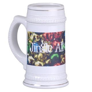 Jingle All the Way Multi Color Bells Stein Mugs