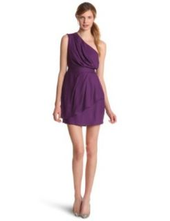 BCBGeneration Women's One Shoulder Dress, Dark Violet, 0 at  Women�s Clothing store