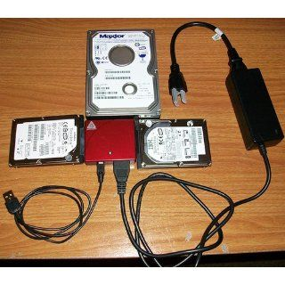 Apricorn DriveWire USB 2.0 to IDE/PATA/SATA Universal Hard Drive Adapter ADW USB KIT (Red) Electronics