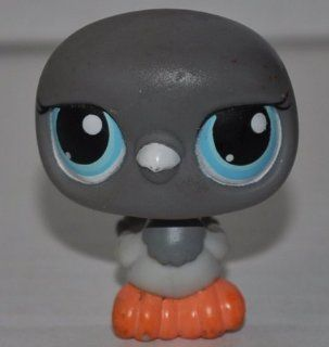 Pigeon #356 (Grey, Blue Eyes, black stripes on wings) Littlest Pet Shop (Retired) Collector Toy   LPS Collectible Replacement Single Figure   Loose (OOP Out of Package & Print)