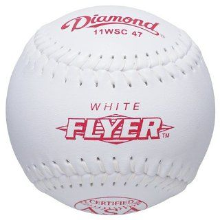 Diamond 11 Inch Super Synthetic Cover Softball, 47 COR, 375 Compression, ASA Stamped, Dozen : Baseball And Softball Socks : Sports & Outdoors