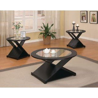 Becky 3 Piece Occasional Table Set in Black Finish by Coaster Furniture   Living Room Furniture Sets