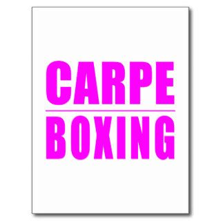 Funny Girl Boxers Quotes   Carpe Boxing Postcard