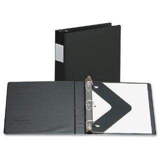 """Wilson Jones 383 Line Basic D Ring Binder, 2"""" Capacity, 8.5"""" x 11"""" Sheet Size with Label Holder and Label Insert, Black (W383 44NHB)  Office D Ring And Heavy Duty Binders"""