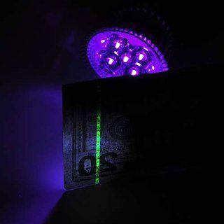 LEDwholesalers High Power 5 Watt LED UV Ultra Violet Blacklight Light Bulb 395nm E26 Screw Base 120 Volt, 1301UV395   Black Light Flashlights