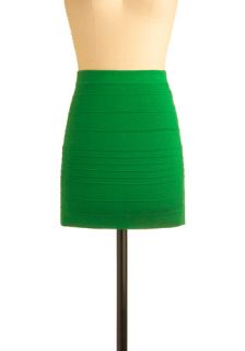 Just Bright Skirt in Grass  Mod Retro Vintage Skirts