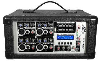 PYLE PRO PMX402M 400 Watt  4 Channel Powered Mixer with  USB Input Musical Instruments