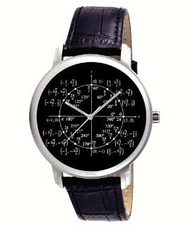 Mathematics Unit Circle Classic Math Lover Collectible Gents Wrist Watch: Watches