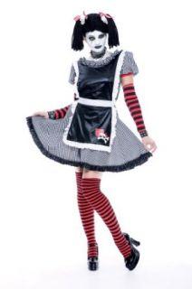 Paper Magic Women's Gothic Rag Doll 3 Costume, Black, One Size Clothing
