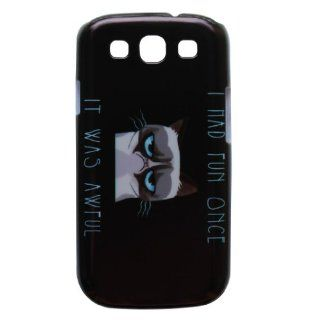 Generic Hard Back Case Cover Funny Grumpy Cat Quotes Pattern Compatible With Samsung Galaxy S III S3 i9300 Color White: Cell Phones & Accessories