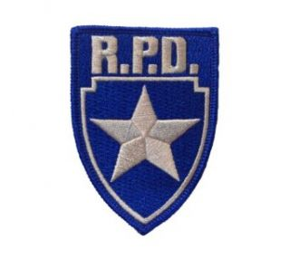 Resident Evil R.p.d. Silver Star Blue Logo Shield Patch Clothing