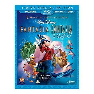 Disney Fantasia 4 Disc Combo Pack Blu ray (Fantasia BD & DVD and Fantasia 2000 BD & DVD) Toys & Games