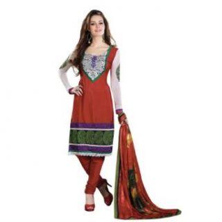 Triveni Sarees Salwar Kameez One Size Maroon: Clothing