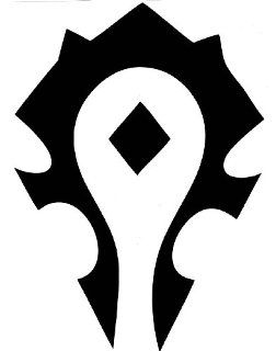 "World of Warcraft Black Horde Logo 7"" Decal Sticker Video Games"