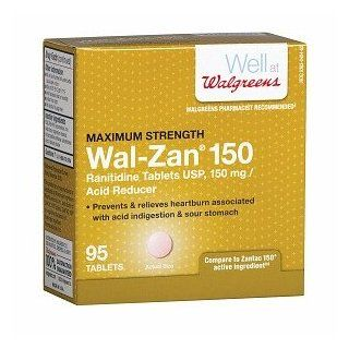 Walgreens Wal Zan 150 Acid Reducer Tablets, 95 ea: Health & Personal Care