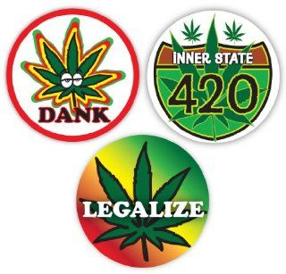 "Unique rasta reggae Bob Marley Jerry Garcia Grateful Dead 420 Peace Sign Symbol Legalize Marijuana Reform 4 1/2"" Sticker Assortment: Toys & Games"