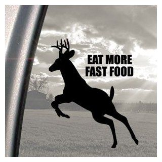 EAT MORE FAST FOOD Black Decal Car Truck Window Sticker   Automotive Decals