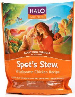 Halo Spot's Stew Natural Dry Dog Food, Adult Dog, Wholesome Chicken Recipe, 4 Pound Bag  Dry Pet Food
