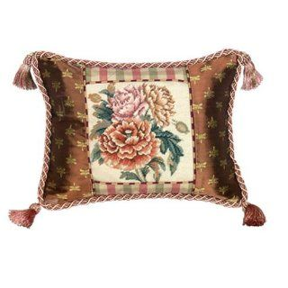 123 Creations C420.12x16 inch Peony Petit Point Pillow   100 Percent Wool   Throw Pillows