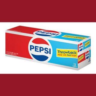 Pepsi Throwback Cola Soda 12 oz, 12 pk