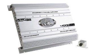 Lanzar VIBE432 Vibe 4000 Watt 4 Channel Mosfet Amplifier Electronics