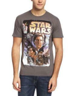 Plastichead Star Wars Comic official men's grey small t shirt Music Fan T Shirts Clothing